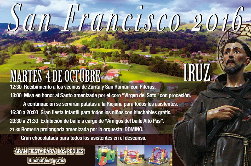 Fiesta de San Francisco 2016 en Iruz