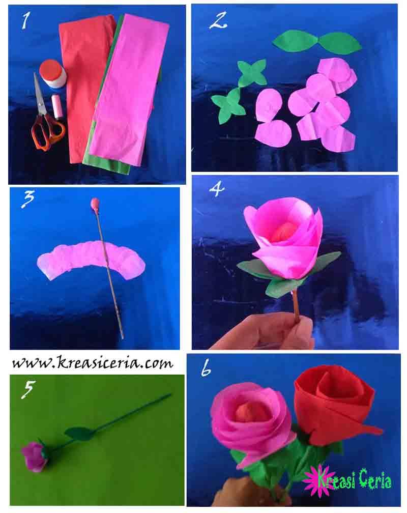 Prakarya Dari Kertas : prakarya, kertas, Membuat, Prakarya, Bunga, Kertas, Untuk