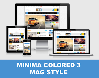 Minima Colored 3 Mag Blogger Template