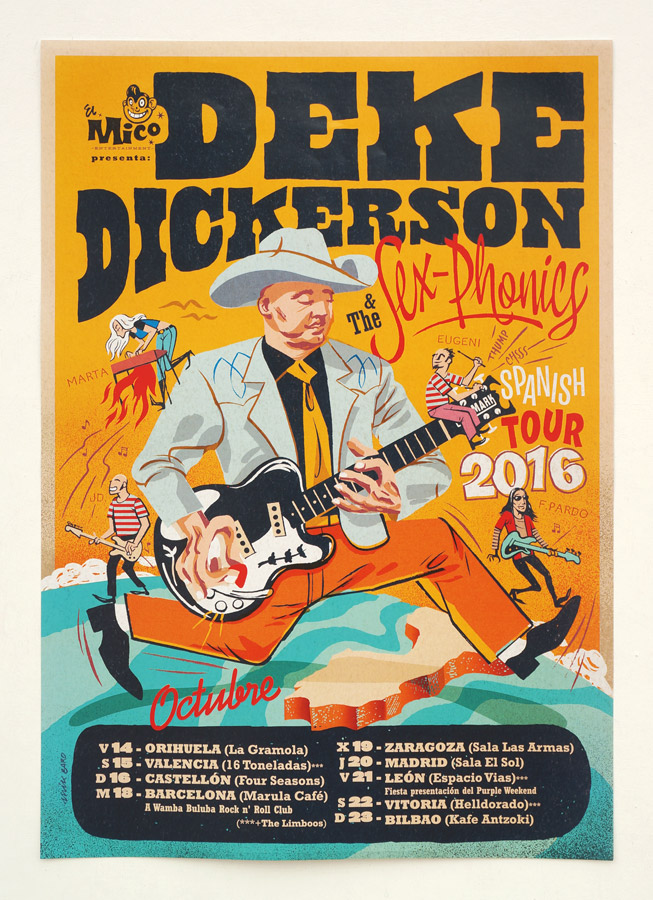 MIK BARO blog: DEKE DICKERSON & THE SEX-PHONICS tour 2016_ cartel