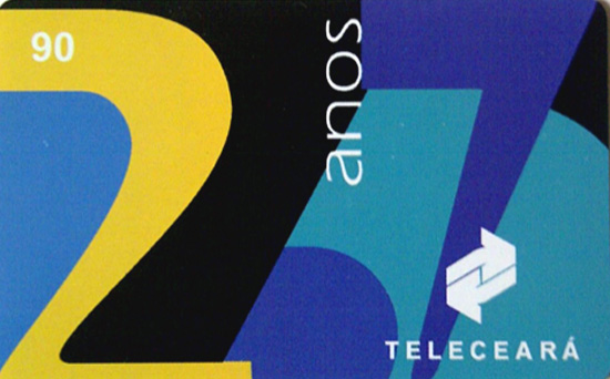 Cartão telefônico - Teleceará - 27 anos da Telecerá