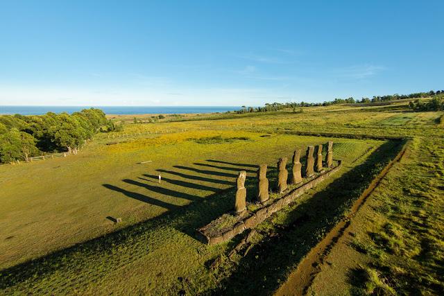 Ahu Akivi na Ilha de Páscoa, Chile