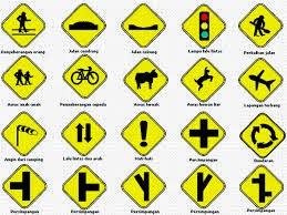 Simbol Peringatan Di Jalan Raya
