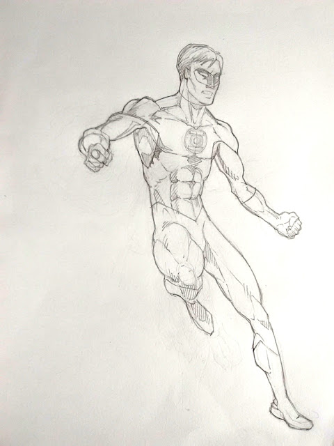 Green Lantern Pencil Drawing