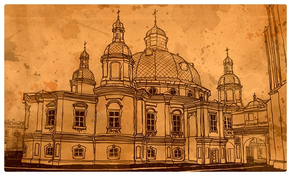 20-Evgeniy-Rodionov-Евгений-Родионов-Architectural-Drawings-with-a-Striking-Background-www-designstack-co