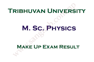 M. Sc. Physics First Semester Make Up Exam Result