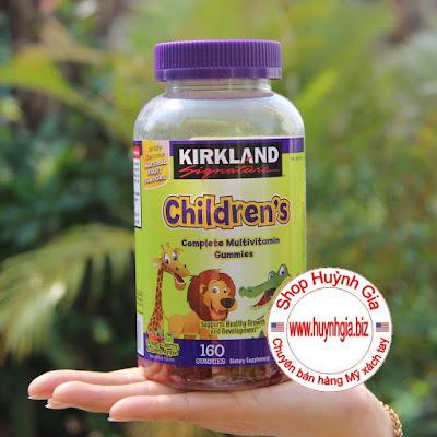 Kẹo dẻo bổ sung Vitamin cho trẻ em Kirkland Children's Multivitamin của Mỹ www.huynhgia.biz