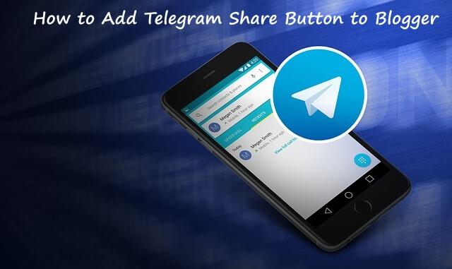 telegram share button to blogger