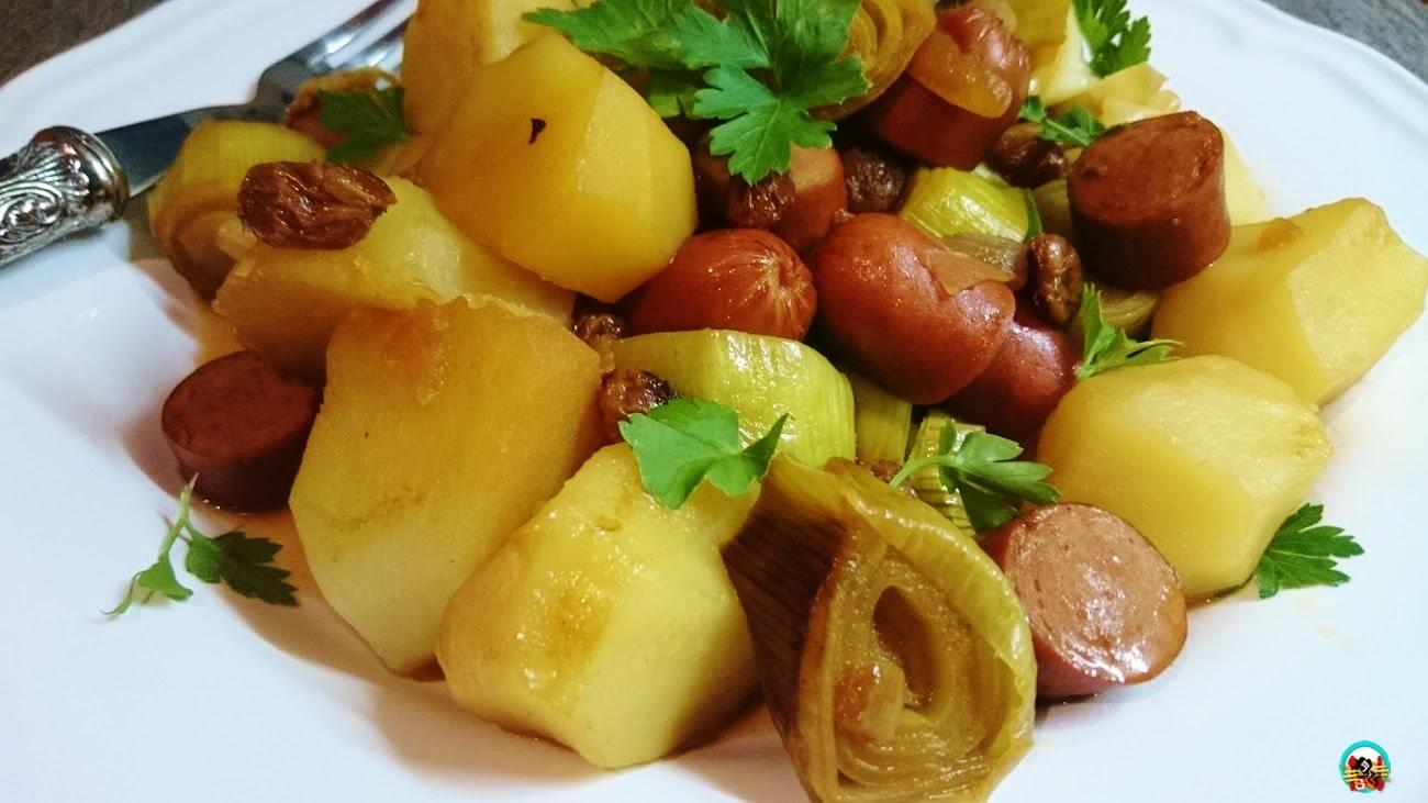Salteado de puerros con patatas huele bien for Cocinar para 8