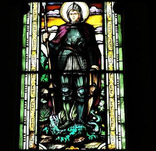 Vitral de São Jorge - Igreja Nossa Senhora das Dores, Santa Maria (RS)
