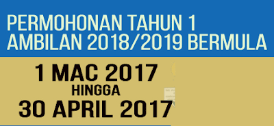 Pendaftaran Murid Tahun 1 Sesi 2018/2019 Secara Online