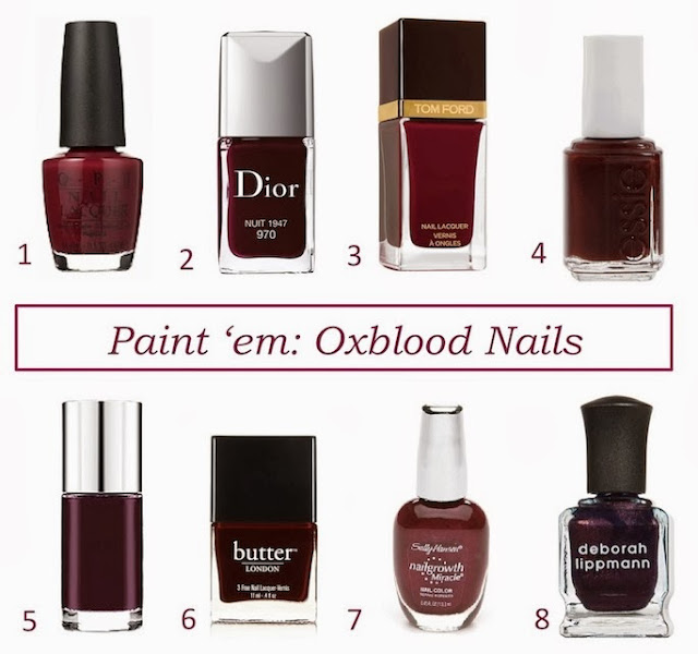 oxblood nail polish