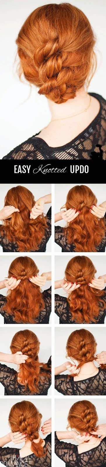 EASY KNOTTED HAIRSTYLE TUTORIAL}