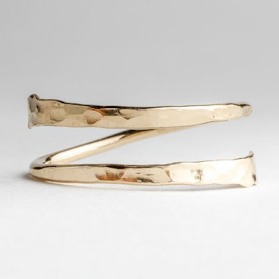 Hammered Bypass Ring (gold or silver) $21 + $5 shipping