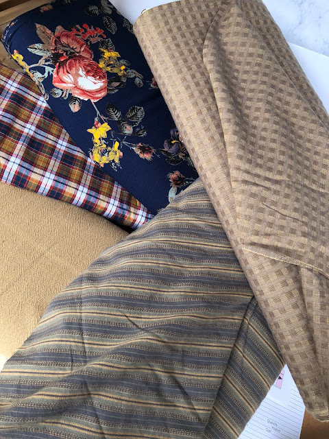 Style Maker Fabrics- Woven Shirting Plaid Texture, Homespun Stripe Cotton Shirting, India Textured Cotton Cloth