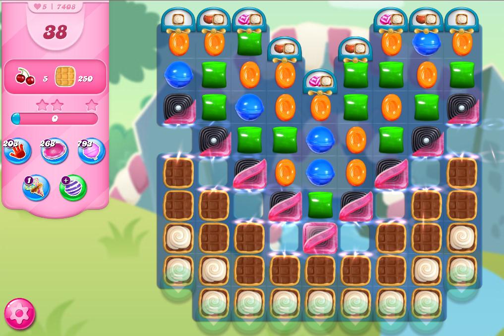 Candy Crush Saga level 7408