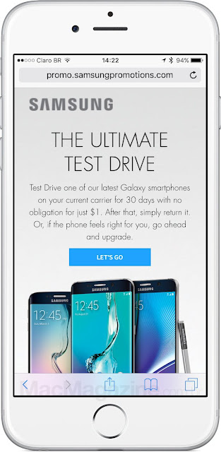 Samsung launches test drive a month for those who want to exchange the iPhone for a Galaxy