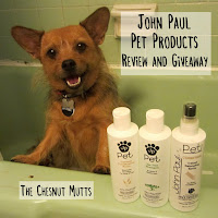The Chesnut Mutts John Paul Pet Products Review and Giveaway