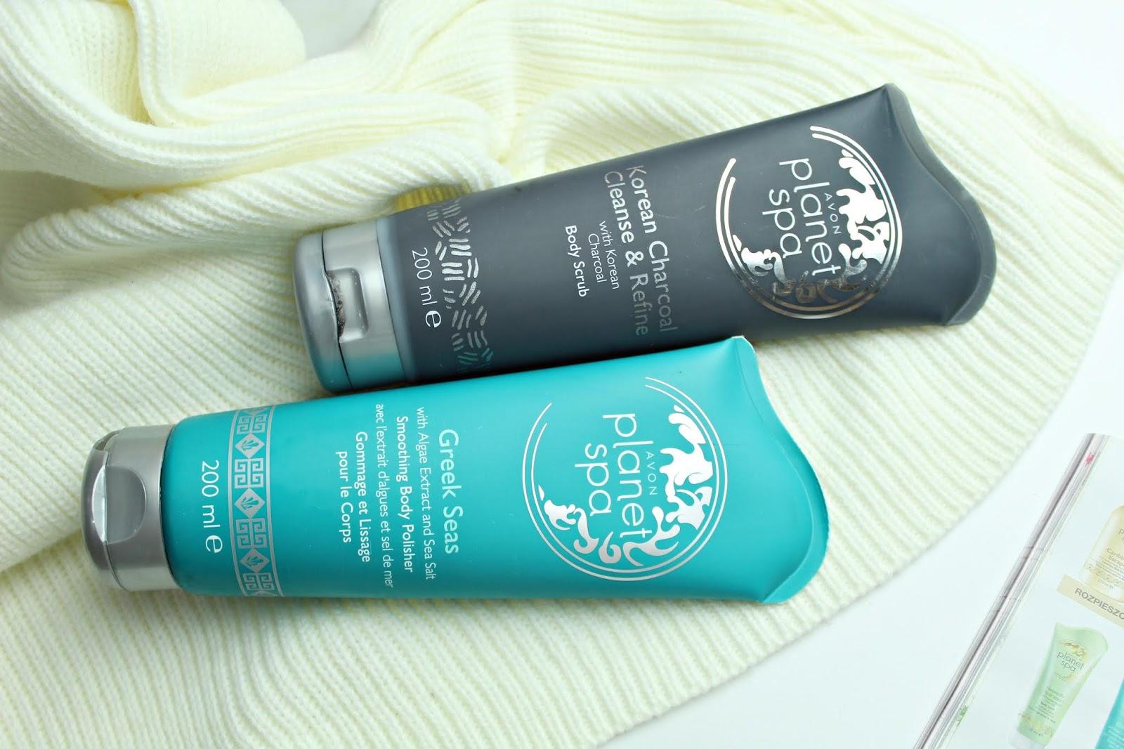 peeling Avon Planet Spa Greek Seas oraz Avon Planet Spa Korean Charcoal Cleanse&Refine