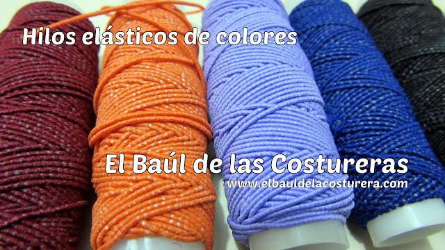 fruncido con hilo elástico de colores para ropa