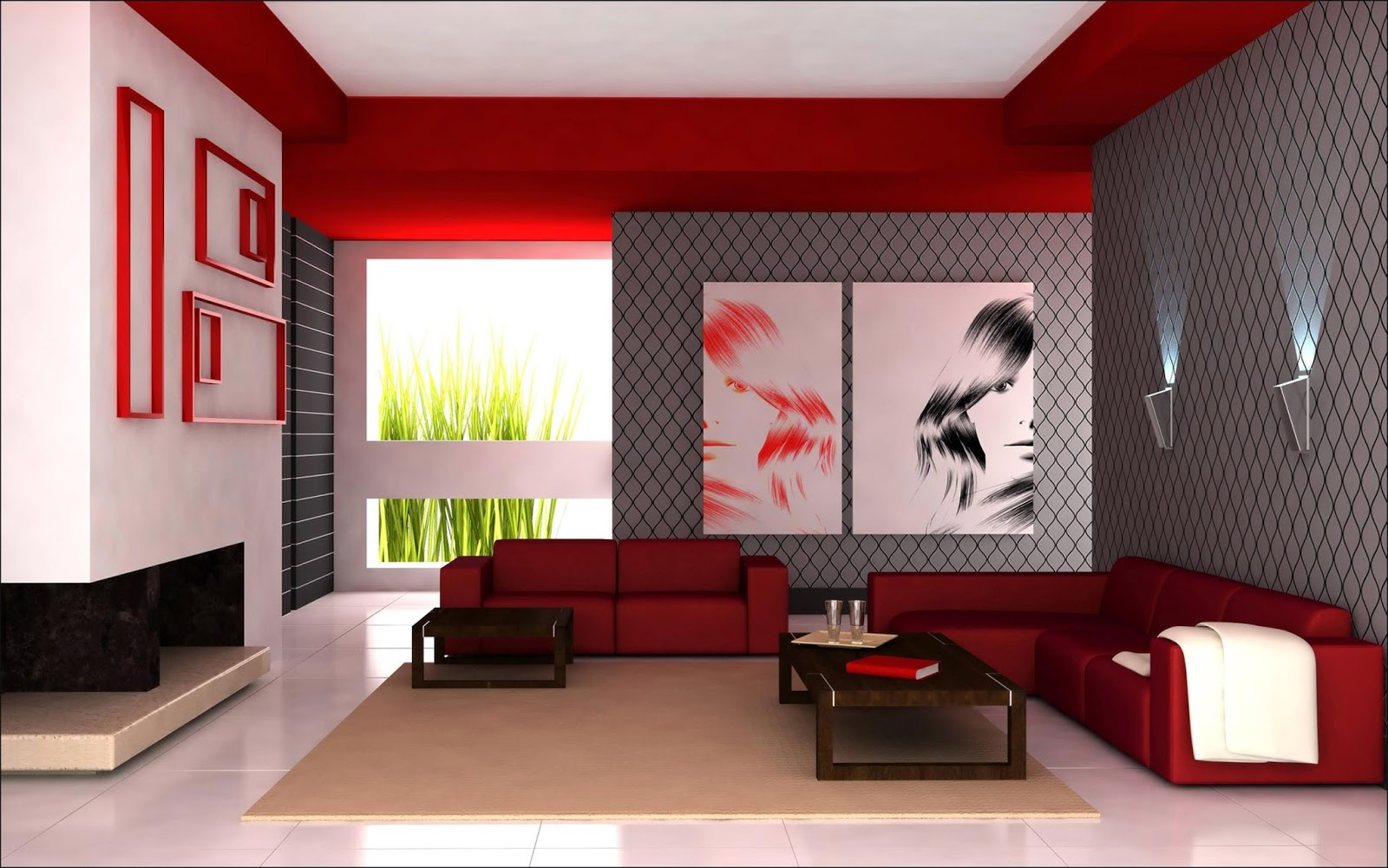 Red living room design ideas 4 homes bedroom design New in Home Decorating Ideas