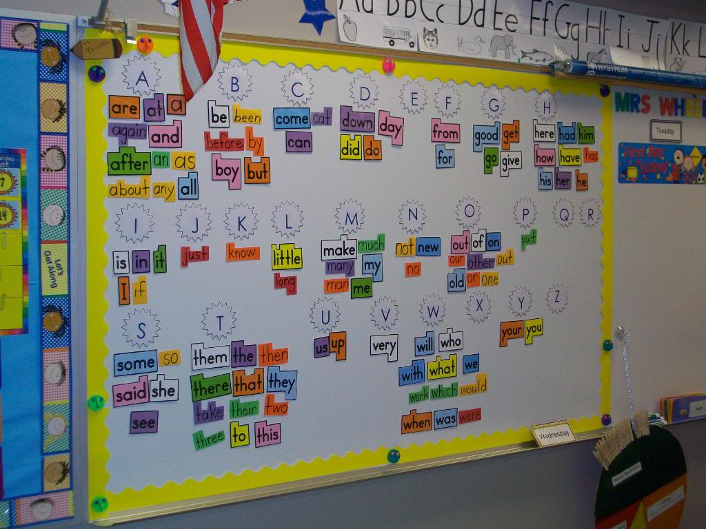 Classroom Display Design ~ Word walls setting up the classroom series clutter