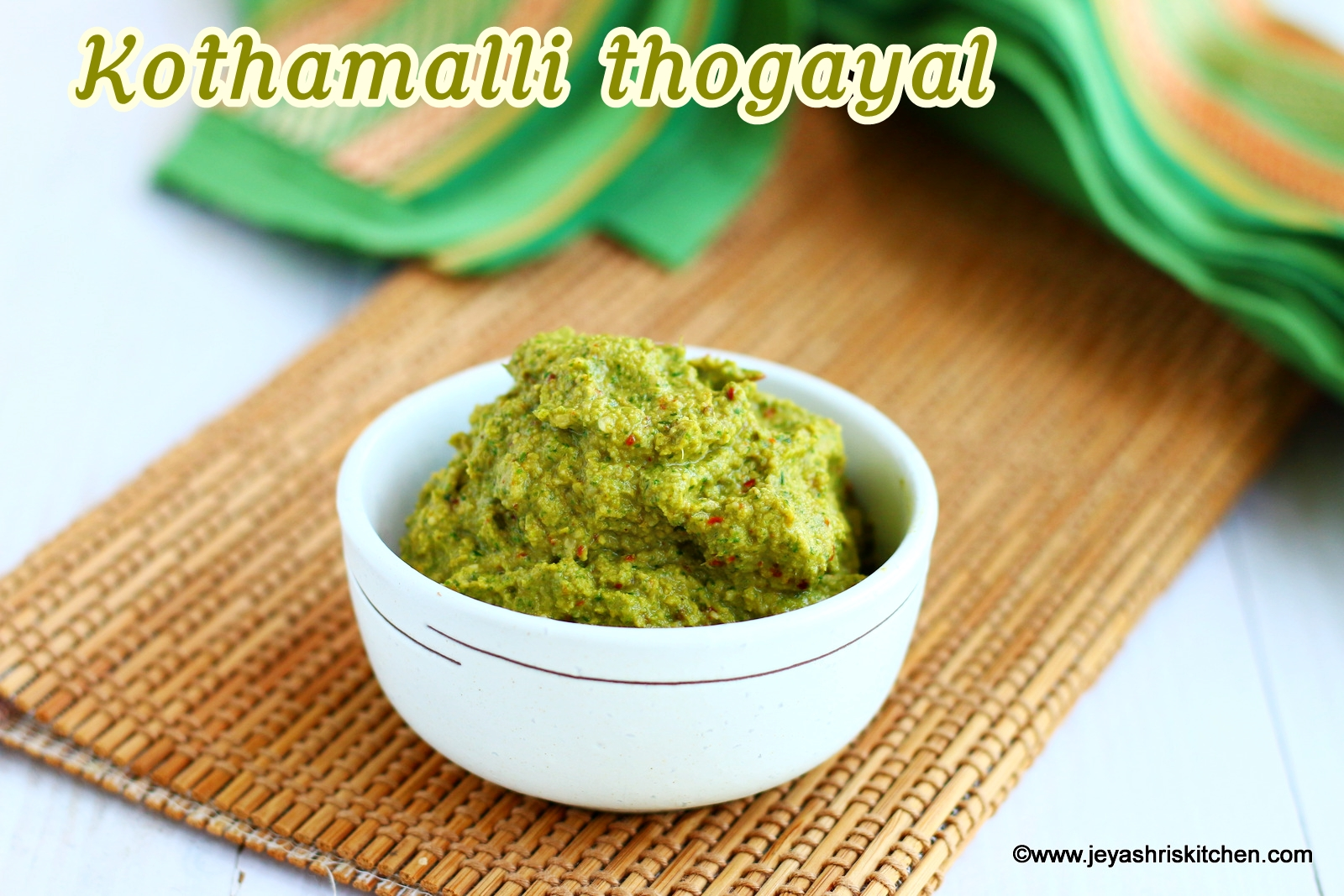 kothamalli thogayal recipe coriander thogayal - Jeyashris Kitchen