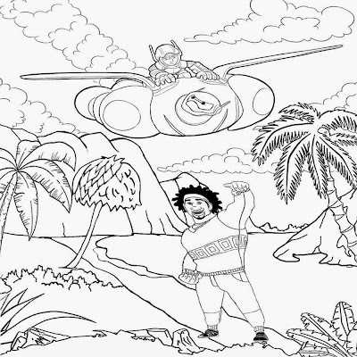 Delightful jungle Disney clipart free printable Hero 6 big superhero coloring sheets for older kids