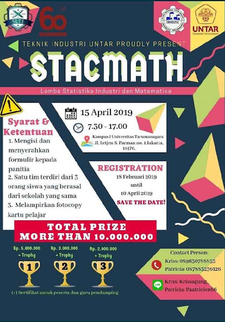 Lomba Statistika & Matematika STACMATH 2019 SMA Sederajat se-Jabodetabek