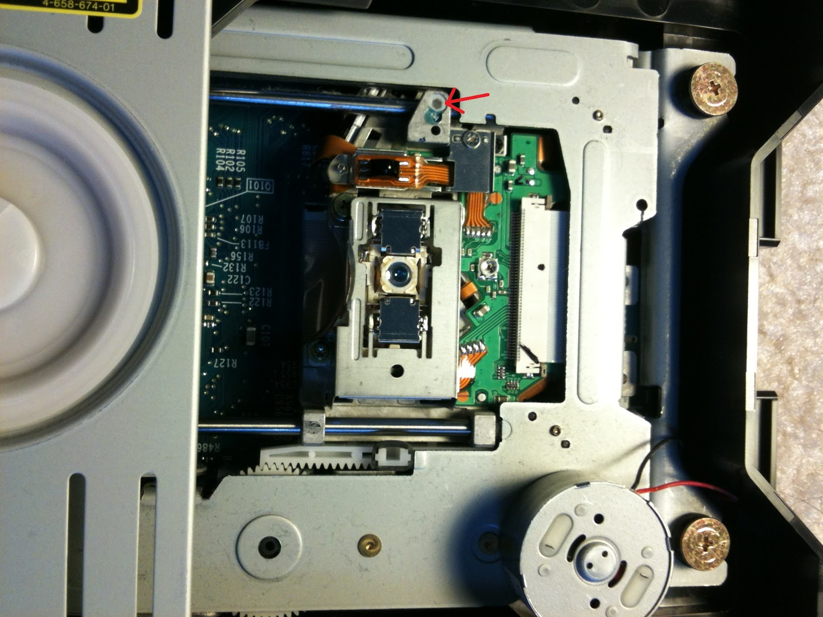 Sony DW-U15A Drive with grub screw adjusting location