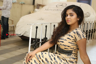 Telugu Actress Karunya Chowdary Stills in Short Dress at ATM Not Working Press Meet  0315.jpg