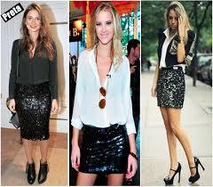 modelo de mini saia com lantejoulas - fotos e dicas