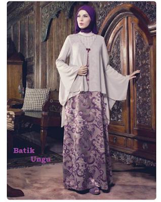 model baju batik kombinasi brokat untuk pesta