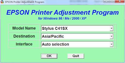 Download Resetter Epson Stylus C41, C42, C43, C44, C45 Dan C46
