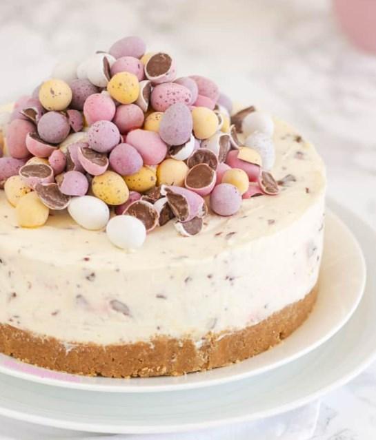 No Bake Mini Egg Cheesecake #eastercake #dessertideas