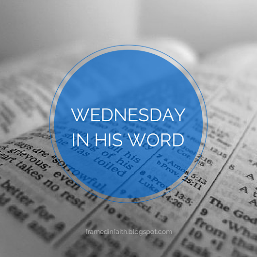 Wednesday in His Word