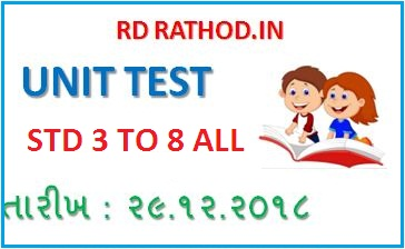 STD 3 TO 8 ALL MATHS UNIT TEST PAPER SOLUTION