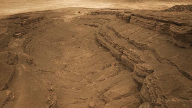 Martian canyon - image from Season 2 of NatGeo MARS TV series