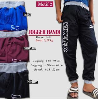 Jogger sport model terbaru - randi motif 2