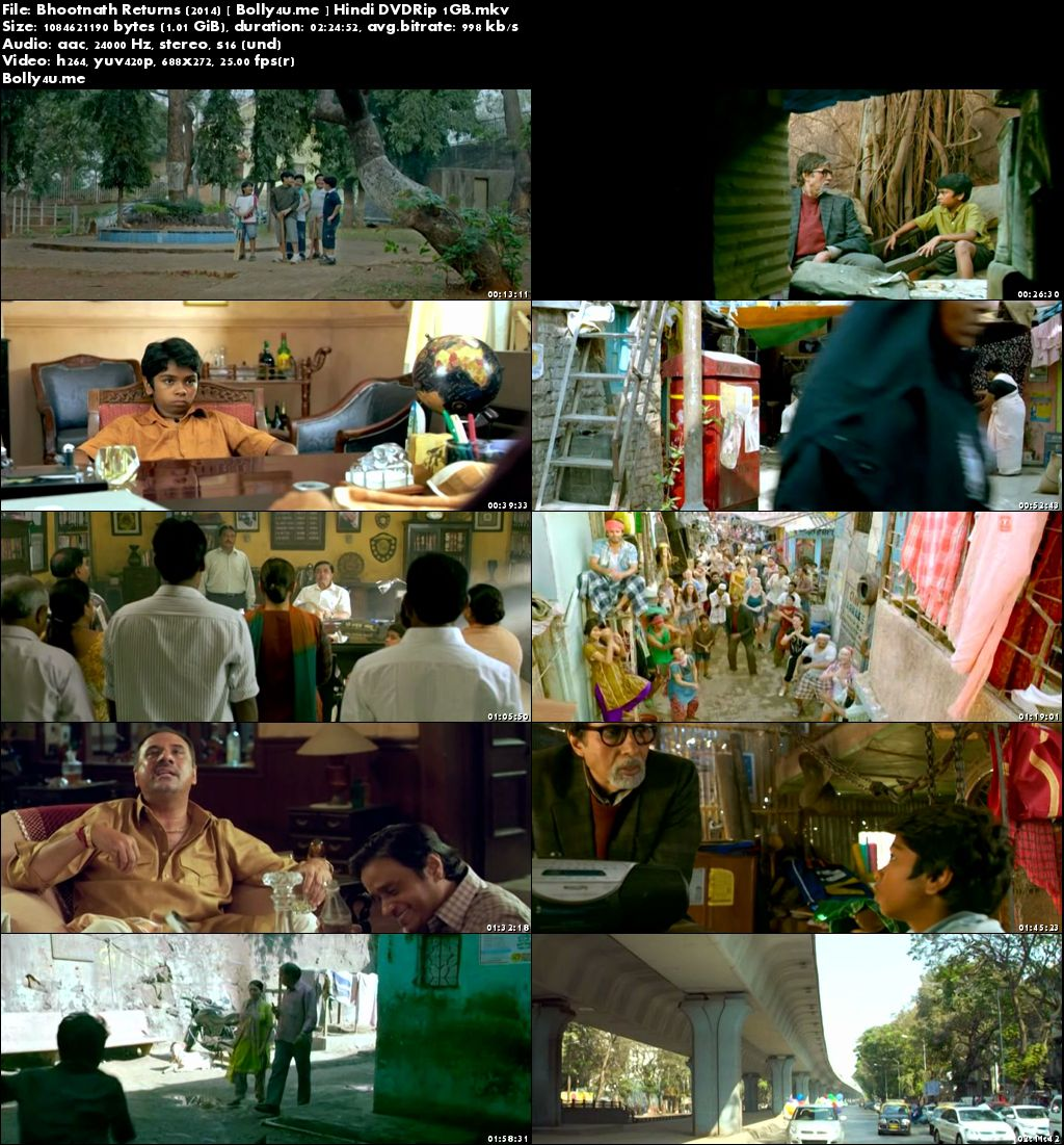 Bhootnath Returns 2014 DVDRip 1GB Full Hindi Movie Download x264