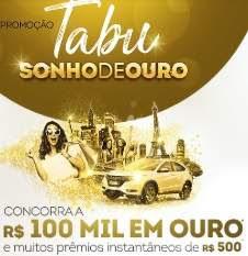 Promoção Tabu Sonho de Ouro - Cadastro