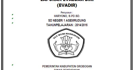 Format Evaluasi Diri Format Exel Evadir Sd Negeri 1