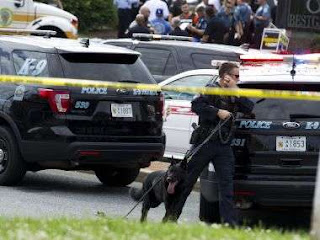 Gunman storms in newsroom, kills 5 in US' Maryland...