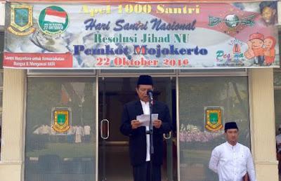 Hari Santri Nasional, Kota Mojokerto Gelar Apel, Penebalan Al Qur'an dan Dialog Budaya