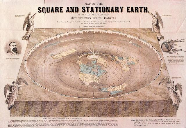 """A expressão """"quatro cantos da terra"""" é melhor entendida na Terra Plana"""