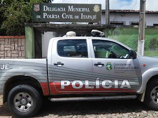 POLICIA PRENDE ASSALTANTE NO CENTRO DE ITAPAJE