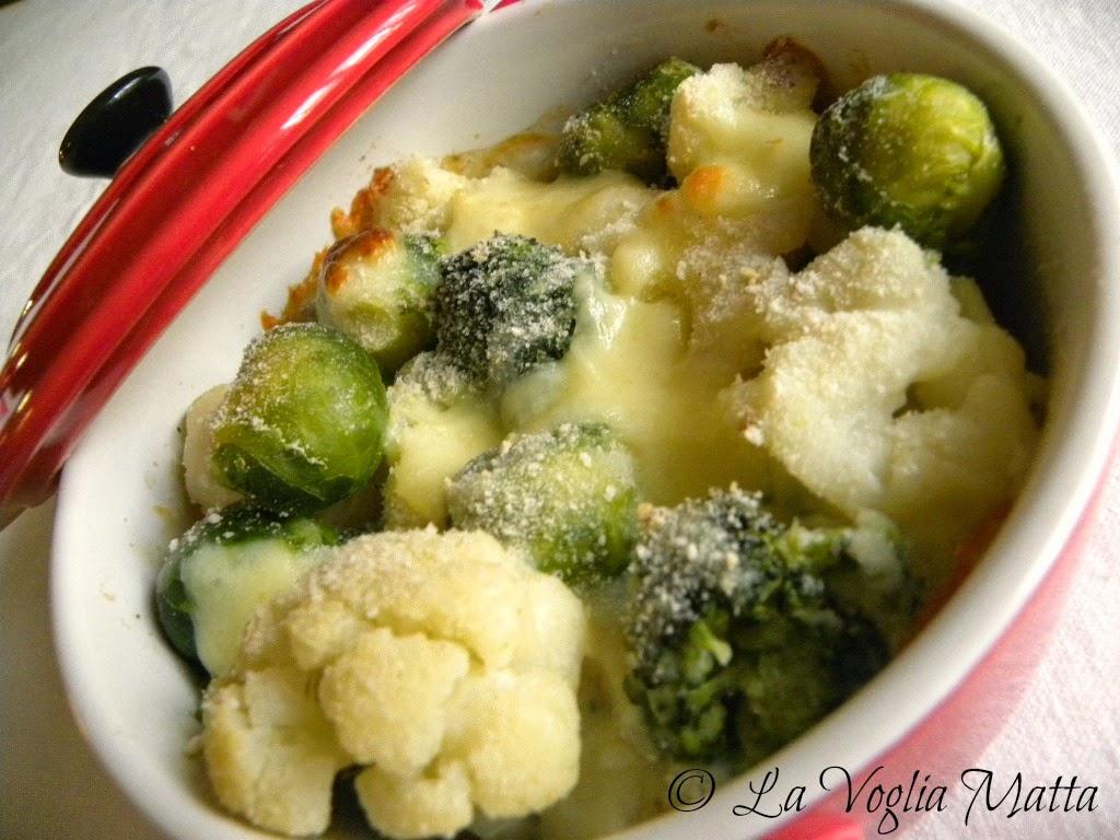 verdure gratinate con salsa allo scalogno