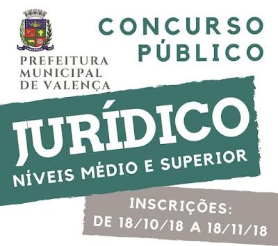 Prefeitura de Valença RJ Concurso 2018: APOSTILAS