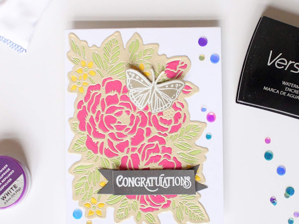 Paper Pieced Congratulations Card