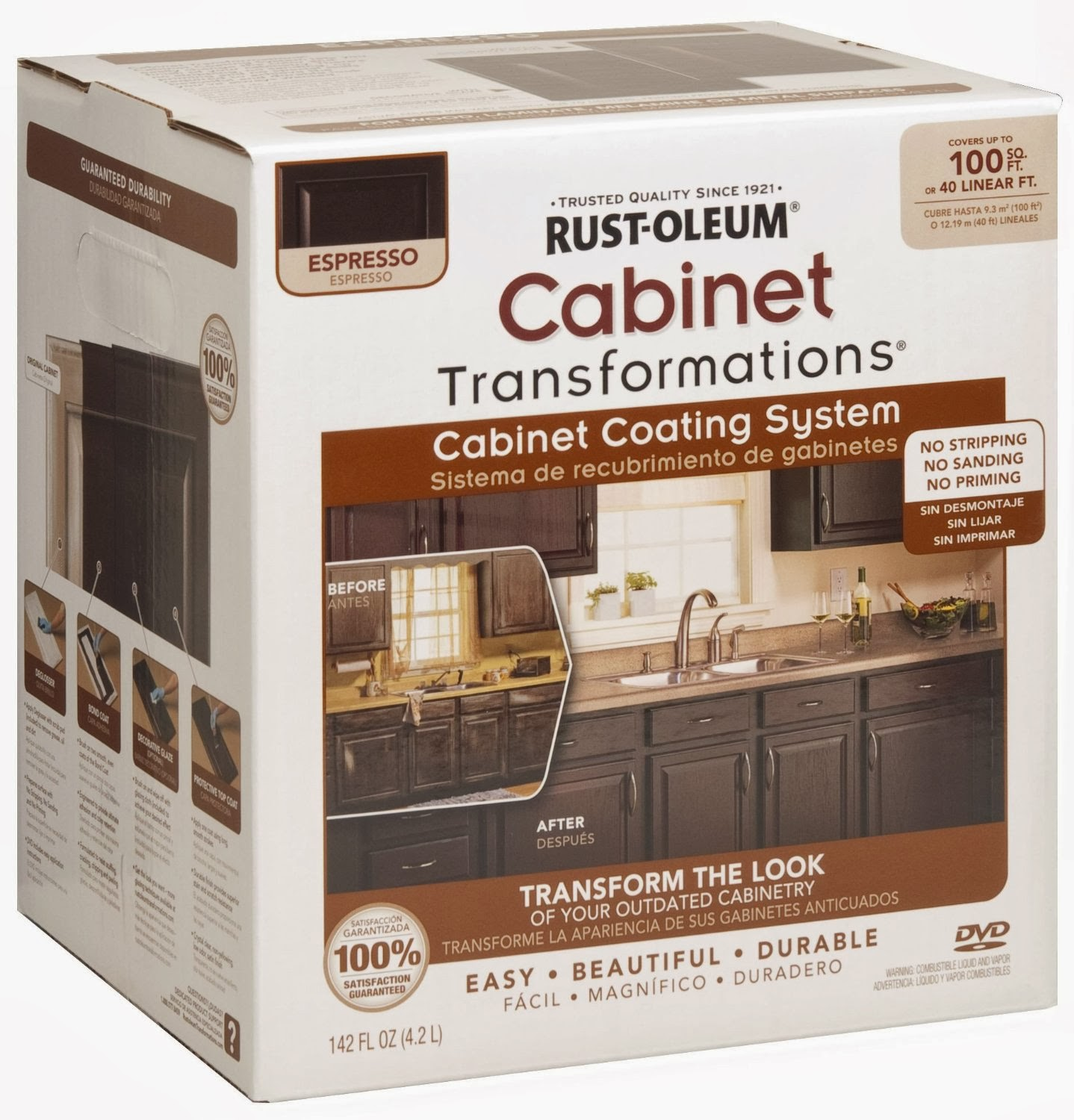 Rustoleum Kitchen Cabinet Kit Reviews Buy White Cabinets Rust Oleum Transformation Review Before And After